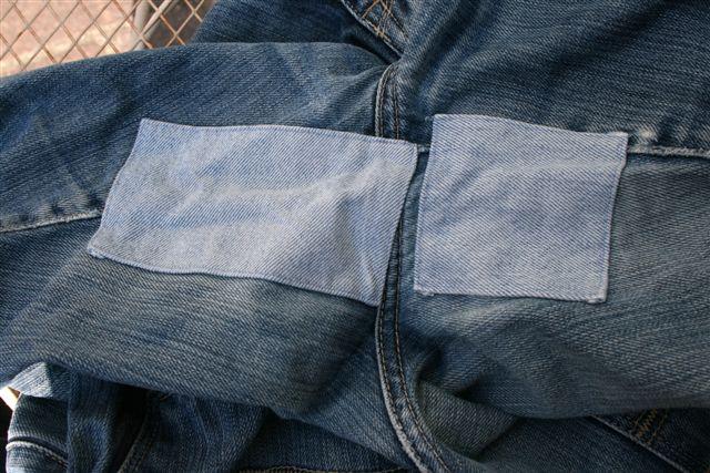 Jeans-Reparaturen früher…