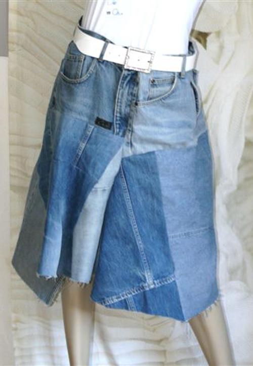 "Jeans-Rock ""Used Look"" (Unikat aus gebrauchten Jeans)"